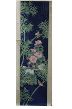 An Estate Chinese Bamboo-sceen Painting Scroll