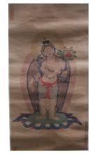 An Estate Portrait of Tibetan Buddha Painting Scroll