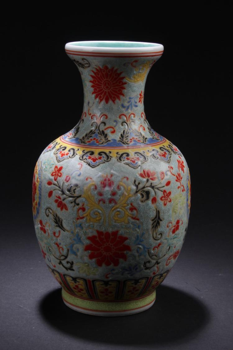 A Flower Blossom Chinese Porcelain Vase