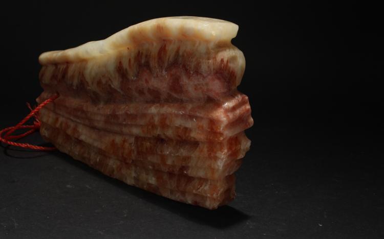 An Estate Chinese Pork-portrait Display