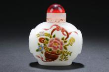 An Overlay Chinese Snuff Bottle