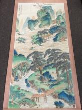 A Landscape Mountainview Painting Scroll