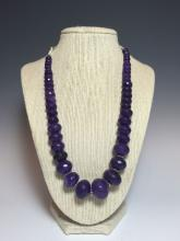 A 45-bead Purple Crystal Necklace