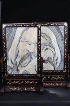 Pair of Chinese Stone Carving Table Screens