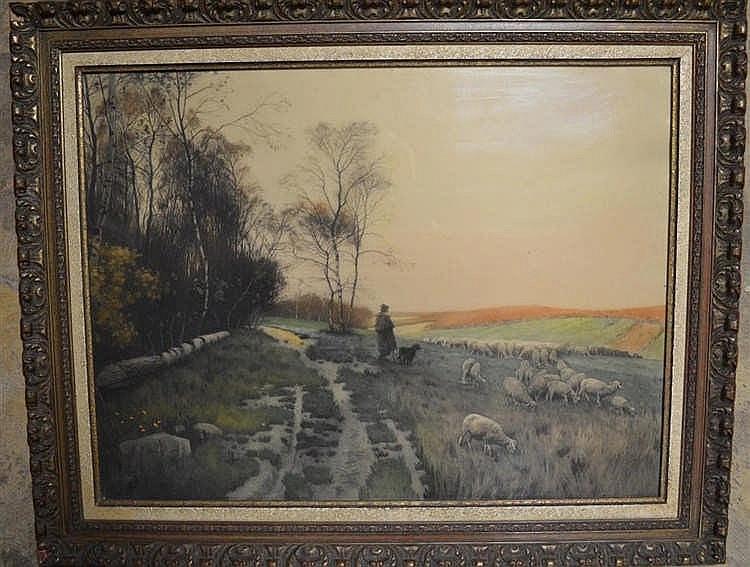 Schilderij Heide landschap