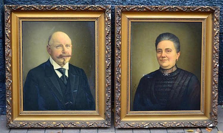 Louis de Breet - 2 portretten