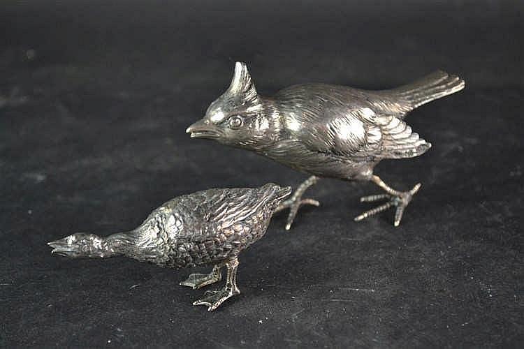 2 zilveren vogels
