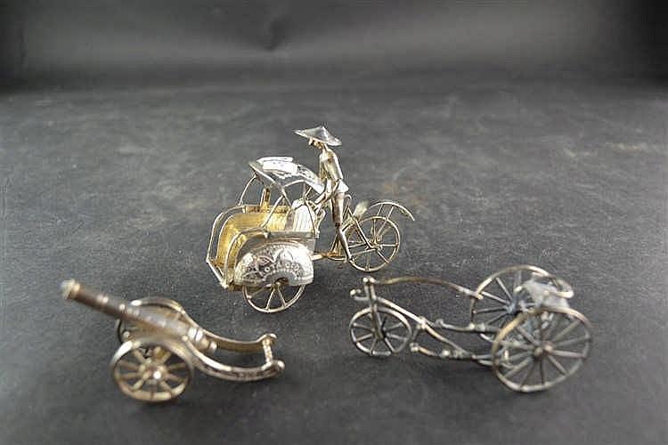 Zilveren miniatuur Kanon