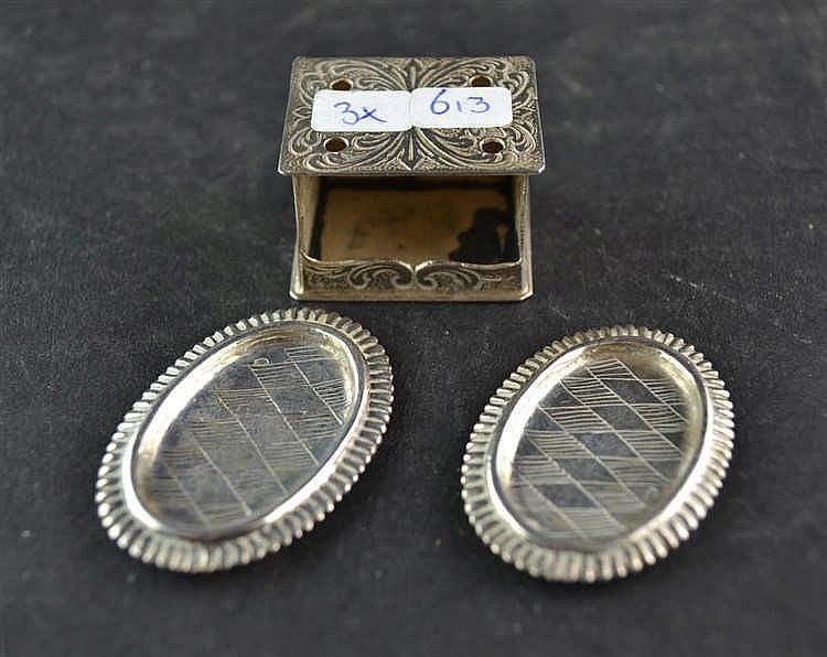 Miniatuur zilveren stoof