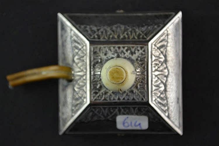 Zilveren lichtschakelaar