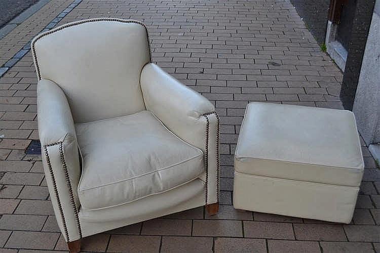Lederen Art Deco stoel