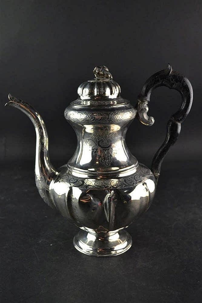 Zilveren koffiekan - Joure 1862