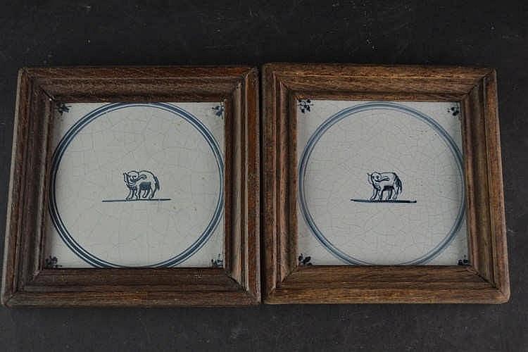 19e eeuwse tegels - Olifant