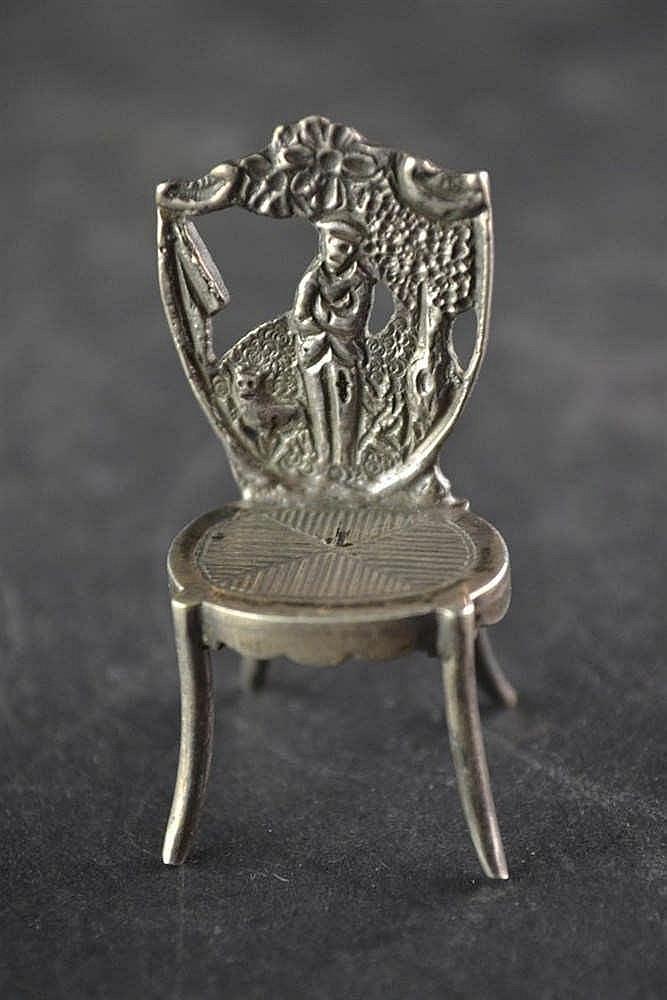 19e eeuws zilveren miniatuur