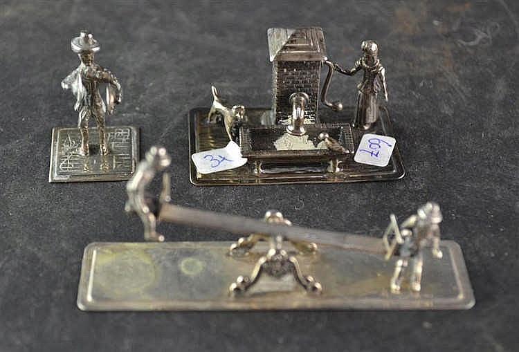 Zilveren miniatuur wipwap