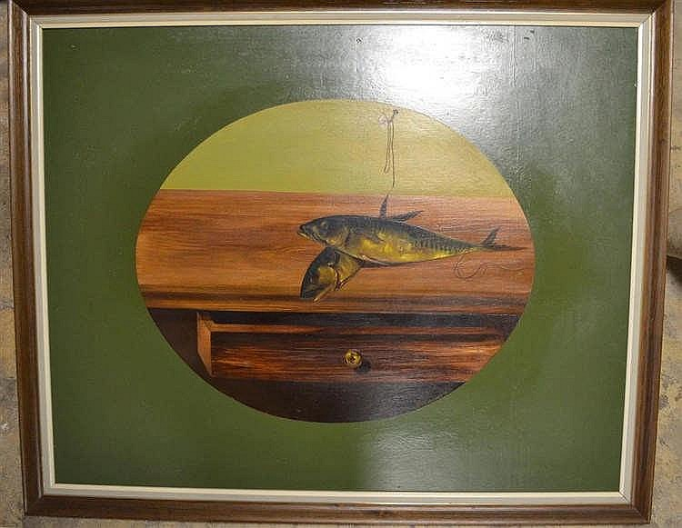 Schilderij A Bernaerts - vissen