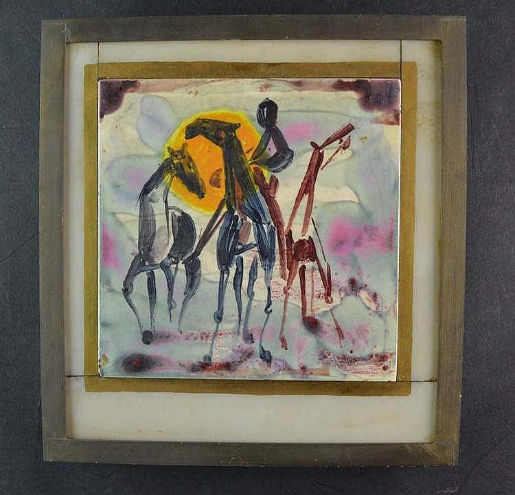 Tegel met paarden -1973
