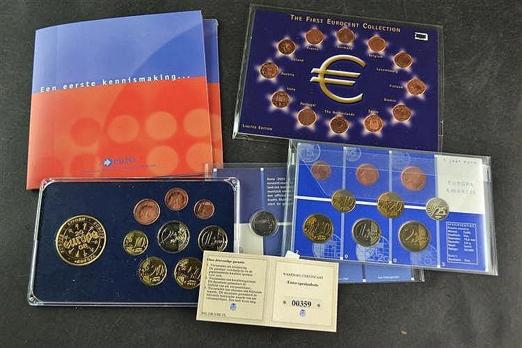 Euro centen set