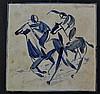 Tegel ruiters te paard