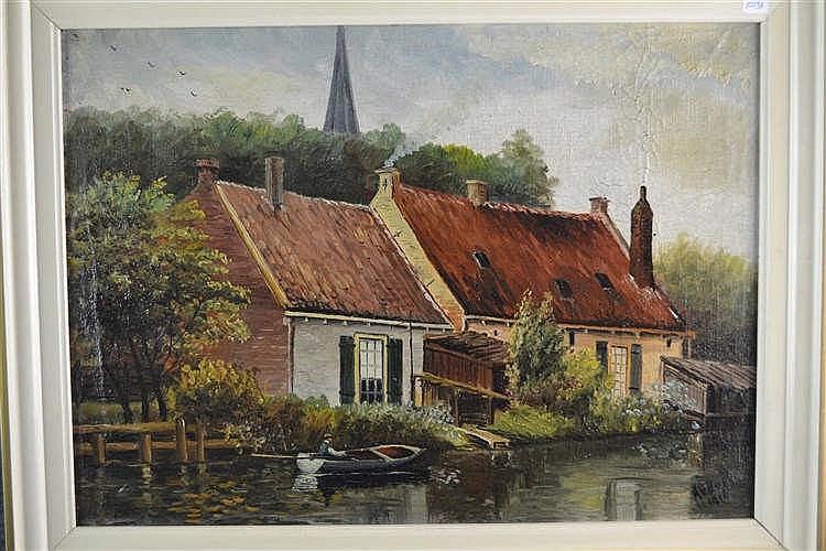 Schilderij - A van Hoek