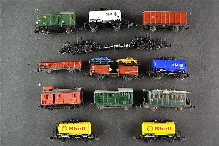 Diverse wagons