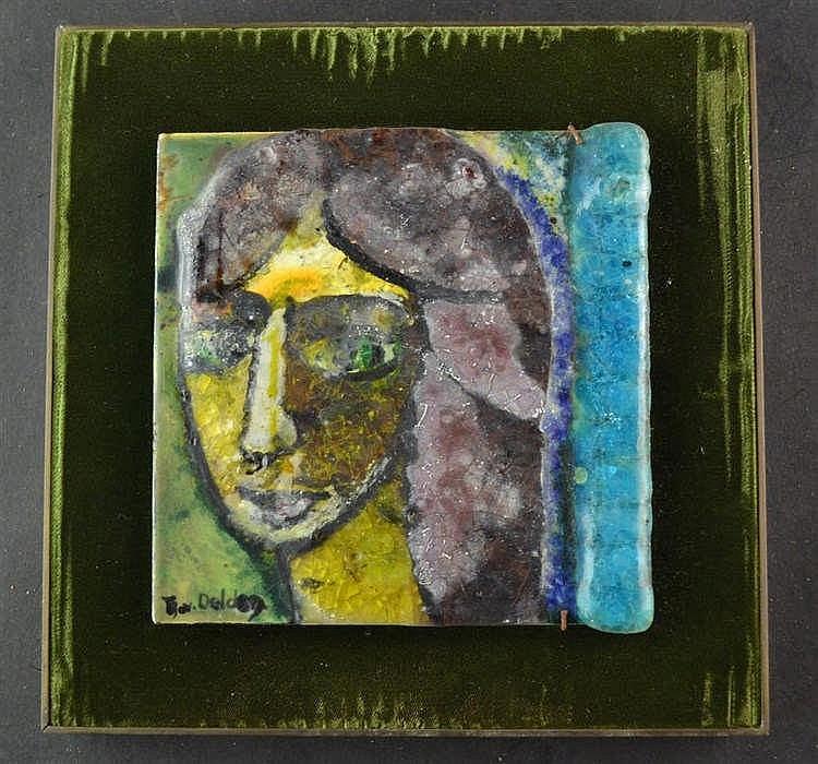 Glas pasta tegel- Portret Trijntje Jans van Delden