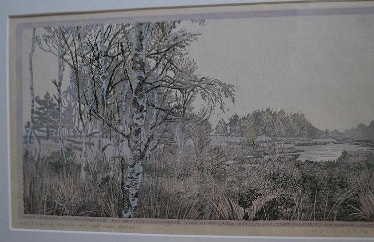 Siemen Dijkstra (1968-heden) Color woodcut