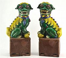 (Asian antiques) Fo dogs