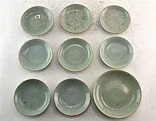 (Asian antiques) Celadon plates