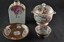 (Asian Antique)  Mandarijn lidded pot