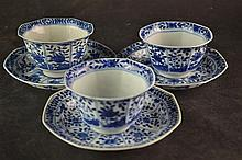 (Asian Antique) Cup and saucers 19th century