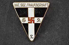(NSDAP) Enameld pin Nat Soz Frauenschaft