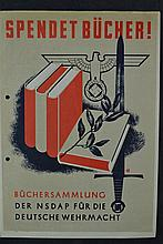 (NSDAP) Poster Spendet Bucher