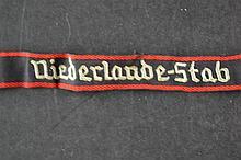 (NSB/WA) Cloth emblem Niederlande stab