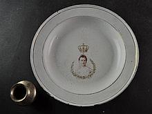 (Royalty) Enameld plate Wilhelmina