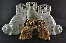 (antiques) Staffordshire dogs