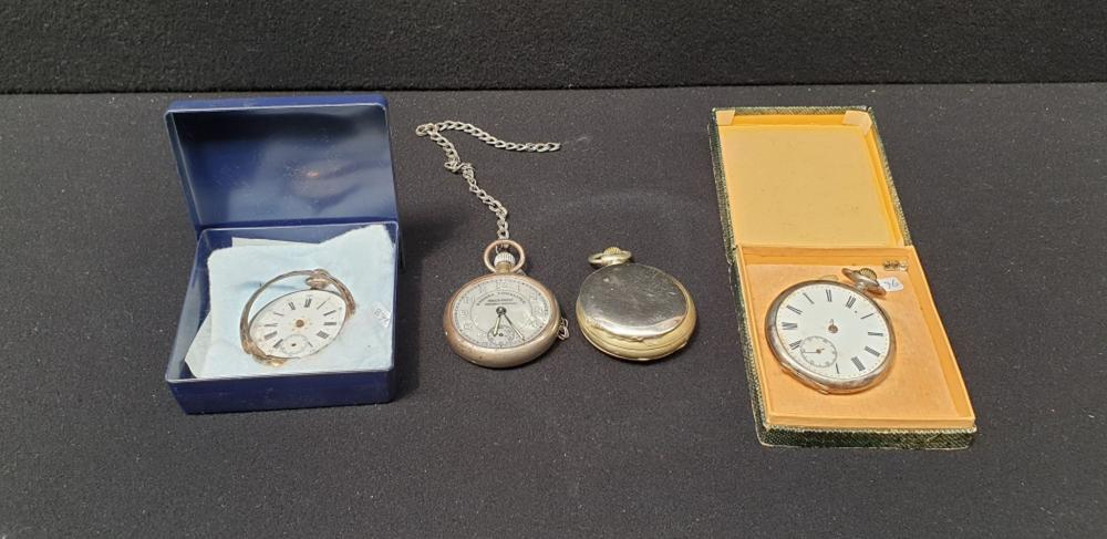 (Curiosities)  Four pocket watches