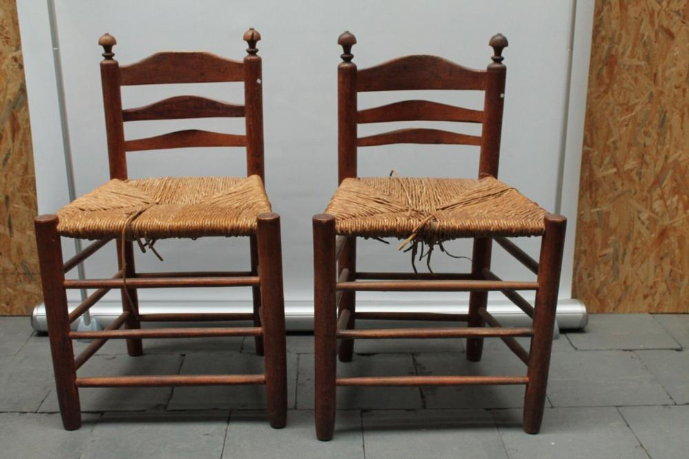 (Antiques)  18th century chairs