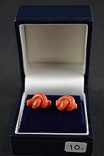 (Jewelry) Earrings with coral