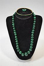 (Jewelry) Malagite necklace