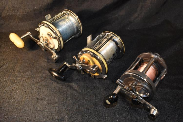 Lot Of 3 Garcia Mitchell And Daiwa Deep Sea Fishing Reels
