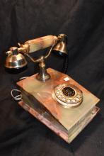 Vintage Onyx Rotary Dial Telephone