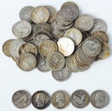$15 Face Value Quarters - 90% Silver