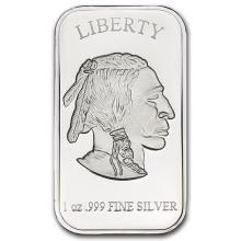 Silver 1 oz. Buffalo/Bison Bar -.999 Pure