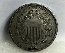 1867 Shield Nickel -