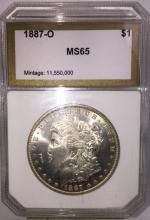 1887 O GEM BU KEY DATE Morgan Silver Dollar