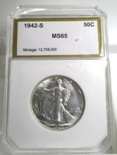1942 S GEM BU Walking Liberty Half Dollar