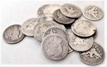 $5 Face Value 90% Silver Barber Quarters