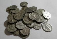 (50) Mercury Dimes- 90% Silver