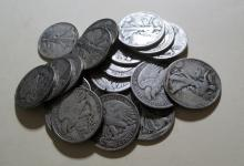 Lot of (20) Walking Liberty Half Dollars - 90% Sir